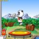 Panfu.de Flash-Games: Bolly Hop - Hüpfe mit dem Panda hoch hinaus.