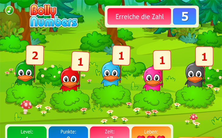 Spiele kostenlos Bolly Numbers auf Panfu.de im Internet - downloadfrei.