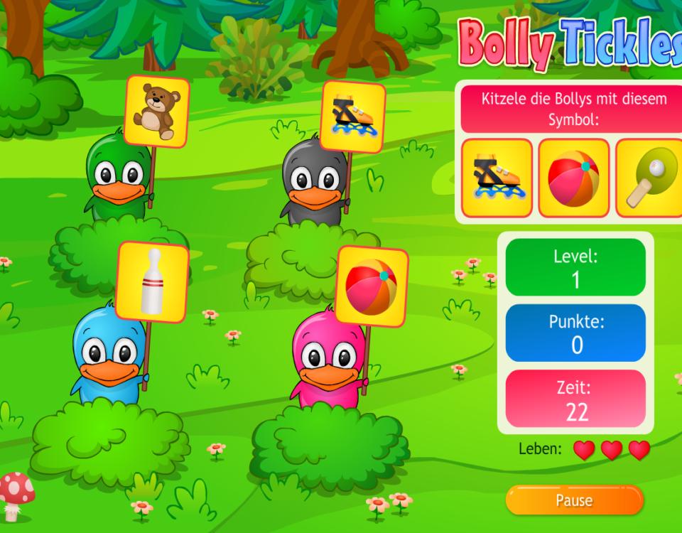 Kostenfreis Onlinespiel auf Panfu.de: Bolly Tickles
