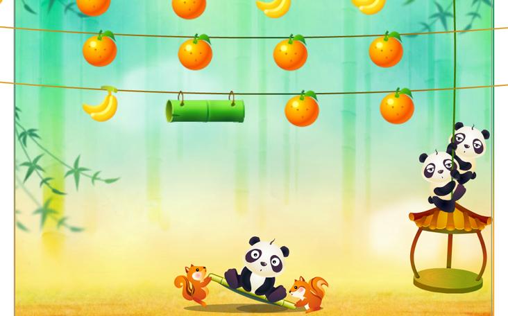 Kostenloses Flash-Spiel Flieg Panda Flieg auf Panfu.de im Internet.