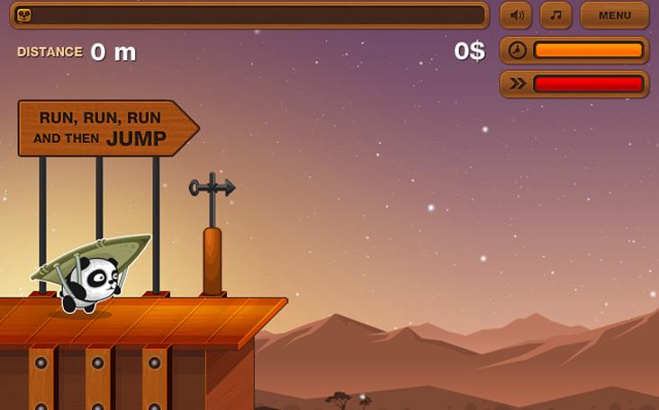 Gratis und anmeldefrei spielen: Flying Panda bzw. Fliegender Panda auf Panfu.de