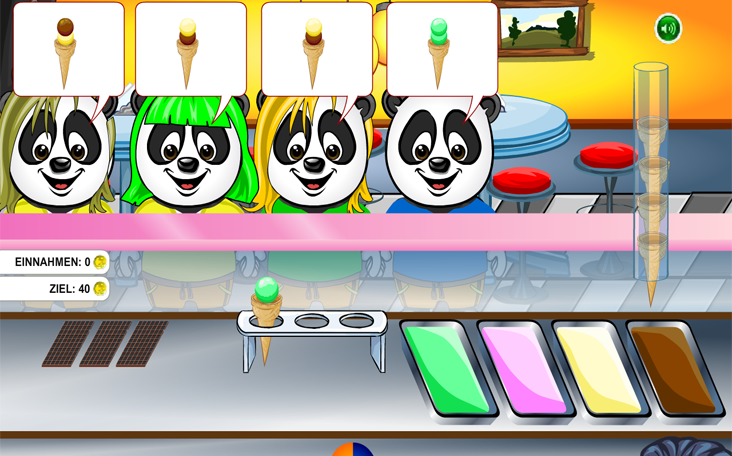 Panfu Ice Cream Shop als kostenloses Flash-Game online.