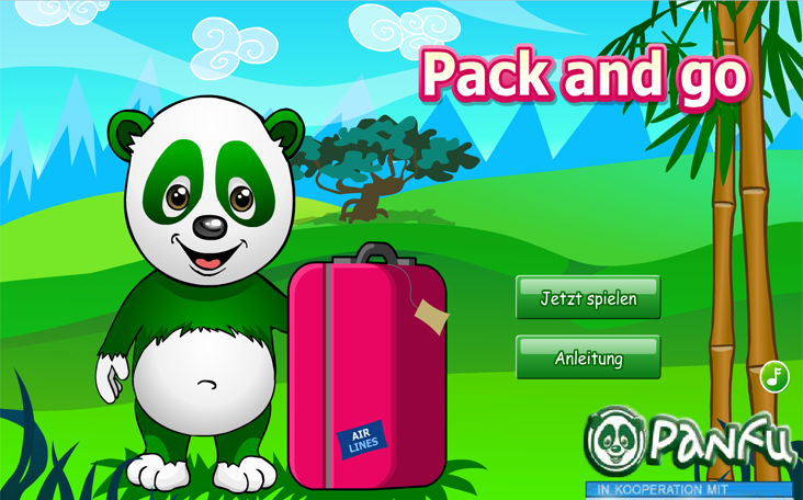 Pack and Go Panda ein Gratisspiel in Flash auf Panfu.de.