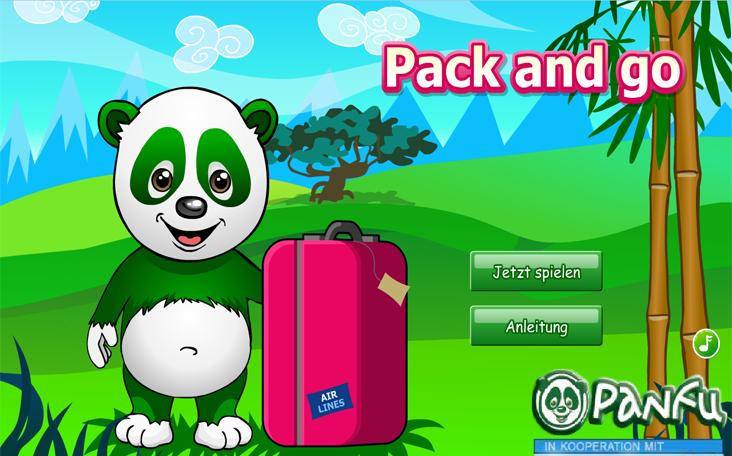 Pack and Go Panda ein Gratisspiel in Flash auf Panfu.de.