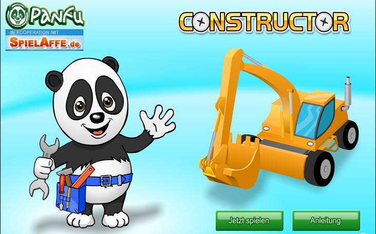 Gratis Kinderspiele online auf Panfu.de: Panda Constructor